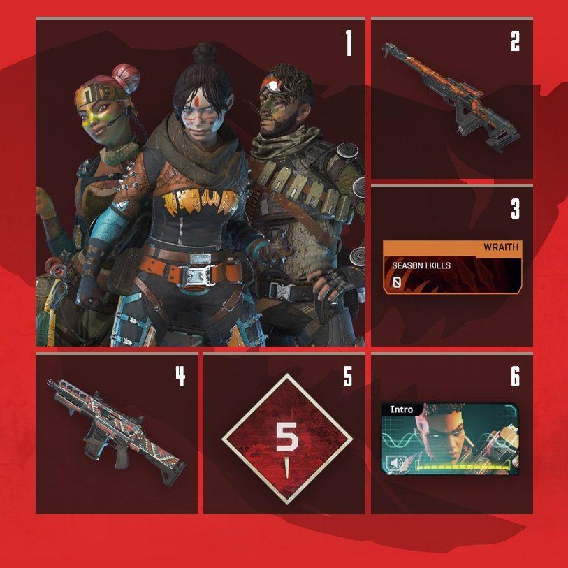 Apex Legends Rewards Level 1 to Level 6
