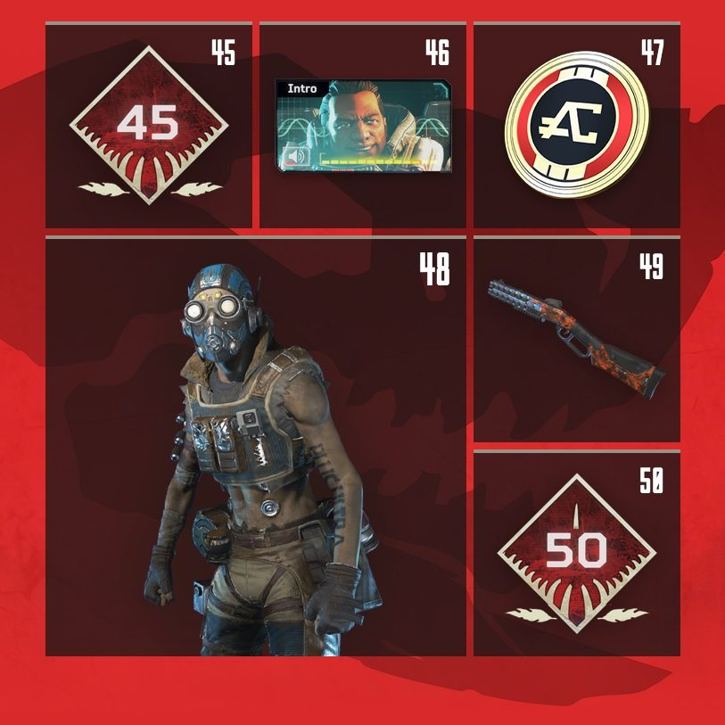 Apex Legends Rewards Level 45 to Level 50