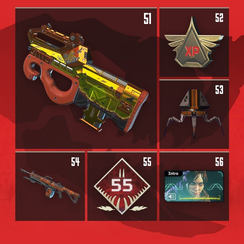Apex Legends Rewards Level 51 to Level 56