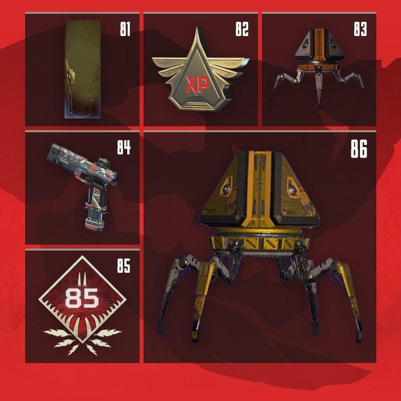 Apex Legends Rewards Level 81 to Level 86